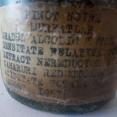 Vin Murfatlar Pinoit Noir 1957 - Vinde Colectie, Aroma: Sec, Sortiment: Rosu, Zona: Romania 1950 - 1970