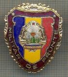 "ZET 697 INSIGNA ,,MILITAR DE FRUNTE"" - PERIOADA RSR - PENTRU NOSTALGICI"