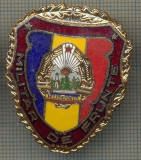 "ZET 701 INSIGNA ,,MILITAR DE FRUNTE"" - PERIOADA RSR - PENTRU NOSTALGICI"