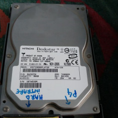 Hard disk Hdd IDE 3.5 Hitachi Deskstar 80GB 7200RPM rotatii desktop Pc Testat, 40-99 GB