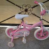 """Princess, Pink, bicicleta copii 12"""" (2-5 ani), Numar viteze: 1"""