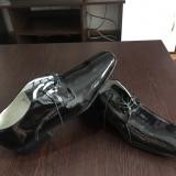 Pantofi lac piele naturală 42