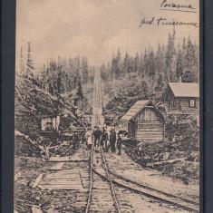 VOINESTI COVASNA FUNICULARUL GHIULAFALA JUDETUL TREI SCAUNE CIRCULATA 1924 - Carte Postala Transilvania dupa 1918, Printata