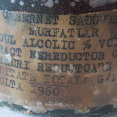 Vin Murfatlar Cabernet Sauvignon 1959 - Vinde Colectie, Aroma: Sec, Sortiment: Rosu, Zona: Romania 1950 - 1970