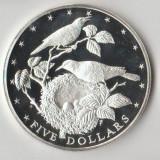 Moneda 5 dollars 1978 - Cook Island, 27, 3 g argint 0, 5000, UNC, Australia si Oceania