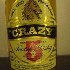 Whisky CRAZY, 100% finest RARE scotch wisky cl.75 gr.40 ani 60 mai multe 5 ani