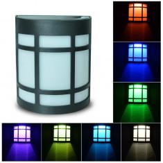 Aplica lampa solara cu led RGB multicolor LIXADA - Corp de iluminat, Lampi solare