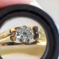 DIAMANT 0.25 ct INEL AUR 14 K - Inel diamant, Culoare: Galben, 57 - 67