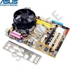KIT Placa de baza ASUS P5GC-MX + Intel Pentium Dual Core E5200 2.5GHz + Cooler, Pentru INTEL, LGA775, DDR2, Contine procesor, MicroATX