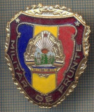 "ZET 740 INSIGNA ,,MILITAR DE FRUNTE"" - PERIOADA RSR - PENTRU NOSTALGICI"