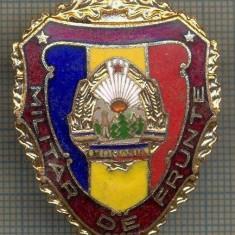 ZET 708 INSIGNA,, MILITAR DE FRUNTE