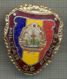 "ZET 693 INSIGNA ,,MILITAR DE FRUNTE"" - PERIOADA RSR - PENTRU NOSTALGICI"