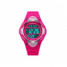 Ceas sport pentru copii cu led DG1077, roz - Ceas copii