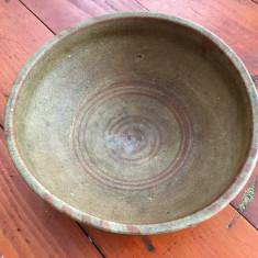 Arta populara romaneasca - strachina / farfurie din lut mestesug taranesc !!! - Arta Ceramica