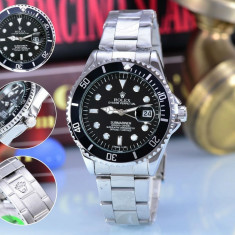 Ceas barbatesc Rolex Submariner Silver Edition, Quartz