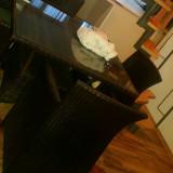 Masa si scaune ratan pentru terasa