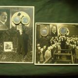 Lot 2 fotografii militare germane, al 3-lea Reich WW 2/foto portret si de grup - Fotografie veche