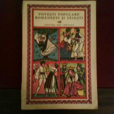 Povesti populare romanesti si sasesti, ilustr. color Val Munteanu - Carte de povesti