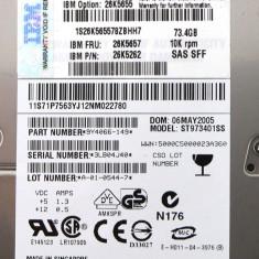 IBM 26K5657 Seagate ST973401SS 73 GB 2,5 inchi SAS Drive cu Sled, 40-99 GB