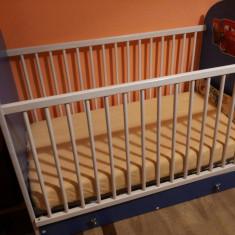 Patut Bebe - Patut lemn pentru bebelusi, Alte dimensiuni, Albastru
