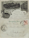Cernauti , Bucovina - litografie 1899, Circulata, Printata