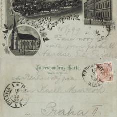 Cernauti, Bucovina - litografie 1899 - Carte Postala Bucovina pana la 1904, Circulata, Printata
