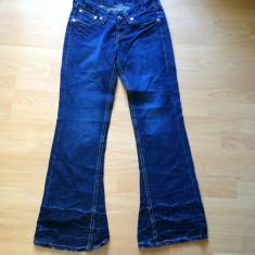 Blugi Levi's 927 type 1, evazati hippie! Noi fara eticheta - Blugi dama Levi's, Marime: 29, Culoare: Albastru