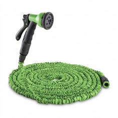 WALDBECK Water Wizard 30, furtun de grădină flexibil, 8 funcții, 30 m, culoare verde - Filtru si material filtrant acvariu