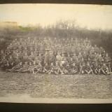 Foto militara germana originala, ofiteri si soldati Imperiali din WW1, 1915-1916 - Fotografie veche