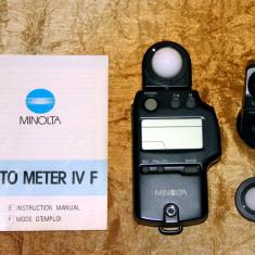 Exponometru Flashmetru Minolta Autometer IVF complet. Made in Japan.