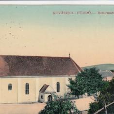 COVASNA BAI BISERICA REFORMATA CIRCULATA 1916 FELDPOST - Carte Postala Transilvania 1904-1918, Printata