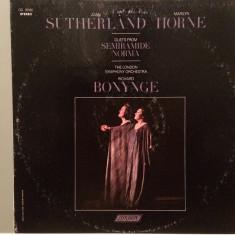 DUETS from NORMA/SEMIRAMIDE cu J.SUTHERLAND/M.HORNE (1970/LODON REC/USA) - VINIL - Muzica Opera universal records