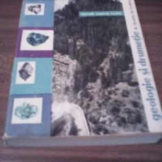 GEOLOGIE SI DRUMETIE TRASEE IN CARPATII ROMANESTI-VICTOR CORVIN PAPIU 1963 - Carte Geografie