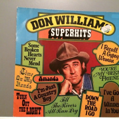 DON WILLIAMS - SUPERHITS (1979/MCA REC/West GERMANY) - VINIL/IMPECABIL - Muzica Country universal records