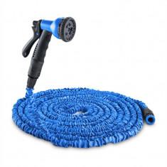 WALDBECK Flex 22, furtun de grădină flexibil, 8 funcții, 22, 5 M, culoare albastră - Filtru si material filtrant acvariu
