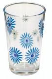 Set pahare 6 buc cu decor flori albastre , bauturi racoritoare Raki