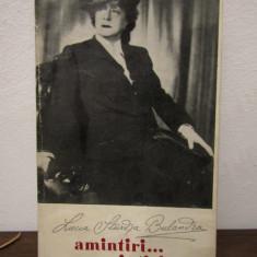 LUCIA STURZA BULANDRA.AMINTIRI...AMINTIRI... ( CU DEDICATIE, AUTOGRAF ) - Carte Cinematografie