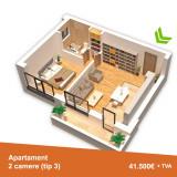 Apartamente cu 2 camere, suprafaţă utilă generoasă