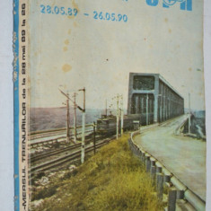 Mersul trenurilor 1989 - 1990 CFR - Carte Geografie
