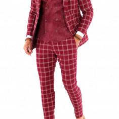 Costum - sacou + pantaloni + vesta - costum barbati 8714, Marime: 44, 46, 48, 50, 52, 54, Culoare: Din imagine