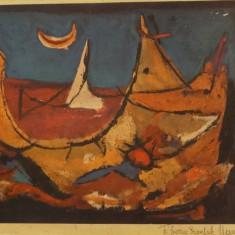 Marcel Iancu - Marea rosie - Pictor roman, Marine, Cerneala, Avangardism