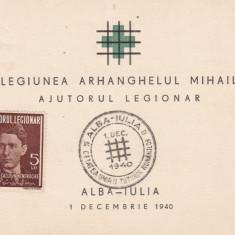 ROMANIA 1940 CARNET LEGIONAR LEGIUNEA ARHANGHELULUI MIHAIL ALBA-IULIA 1 DEC.1940 - Timbre Romania, Stampilat
