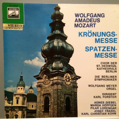 MOZART - CORONATION MASS/MISSA BREVIS (1968/EMI REC/WEST GERMANY) - VINIL - Muzica Clasica emi records