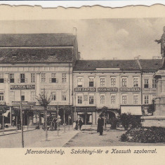 TARGU MURES PIATA SZECHENYI CU STATUIA LUI KOSSUTH - Carte Postala Transilvania dupa 1918, Necirculata, Printata