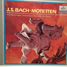 BACH - MOTETTEN - K.THOMAS (1978/DEUTSCHE GRAMMOPHON REC/WEST GERMANY) - VINIL - Muzica Clasica universal records