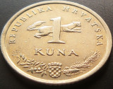 Moneda 1 Kuna - CROATIA, anul 2005  *cod 5017B, Europa