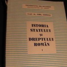 ISTORIA STATULUI SI DREPTULUI ROMAN-CONF.DR. EMIL CERNEA-VOL1-343 PG, Alta editura