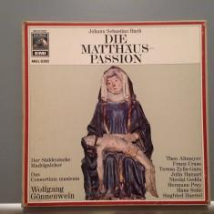 BACH - THE METHEW PASION - 4LP BOX -cu N.GEDDA(1970/EMI REC/W.GERMANY) - VINIL - Muzica Clasica emi records