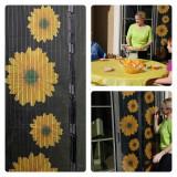 SET 2 plase (tantari) anti insecte cu magneti si imprimeu cu floarea soarelui !