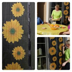 Plase (tantari) anti insecte cu magneti si imprimeu cu floarea soarelui !